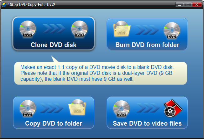 Click to View Full Screenshot1Step DVD Copy 1.4.2 screenshot